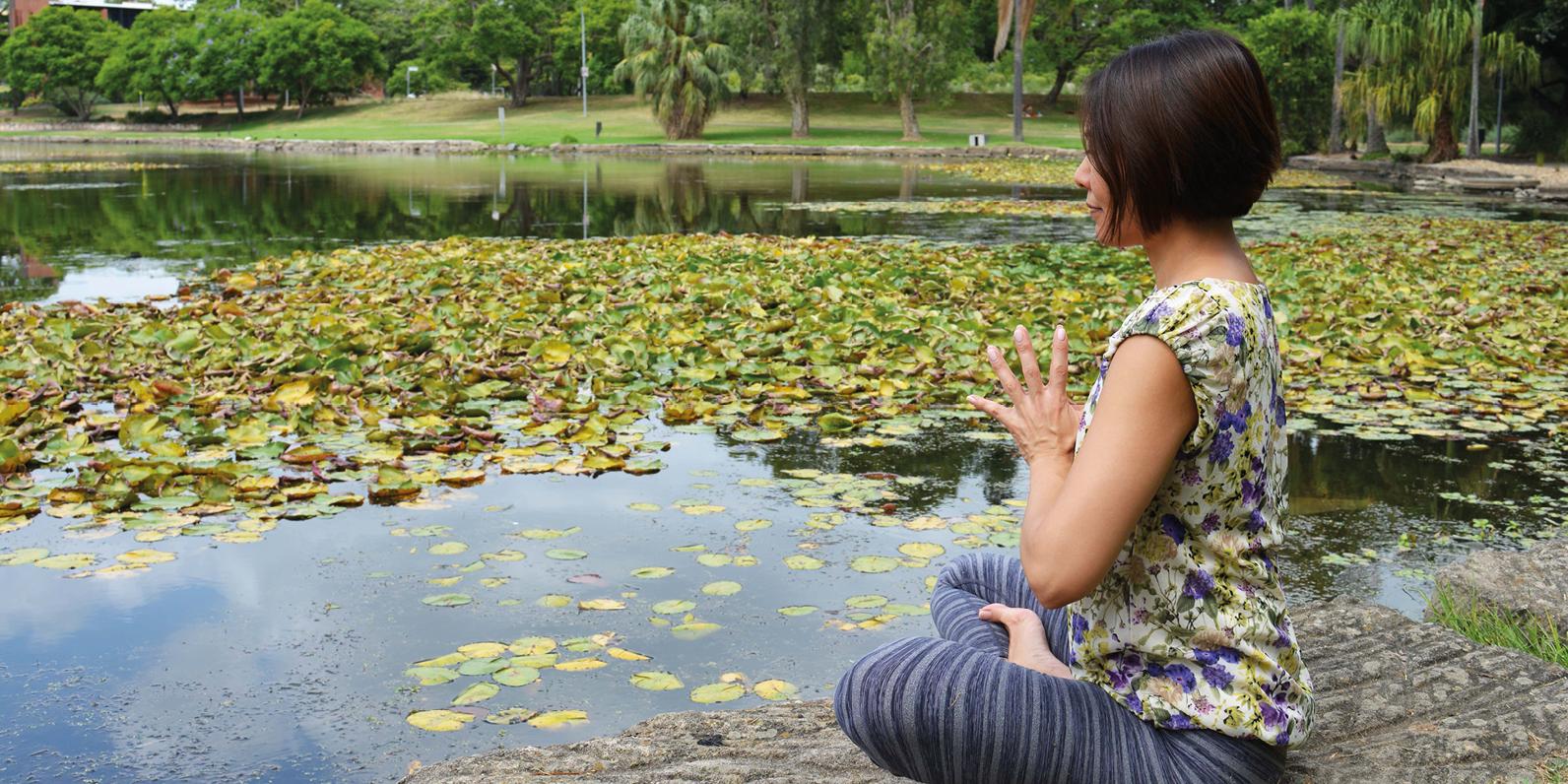 Mindfulnes Yoga. Meditation in motion for a peaceful mind.