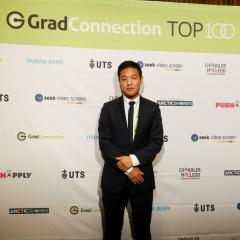 Shaun Moon at the Top 100 Future Leaders Awards night